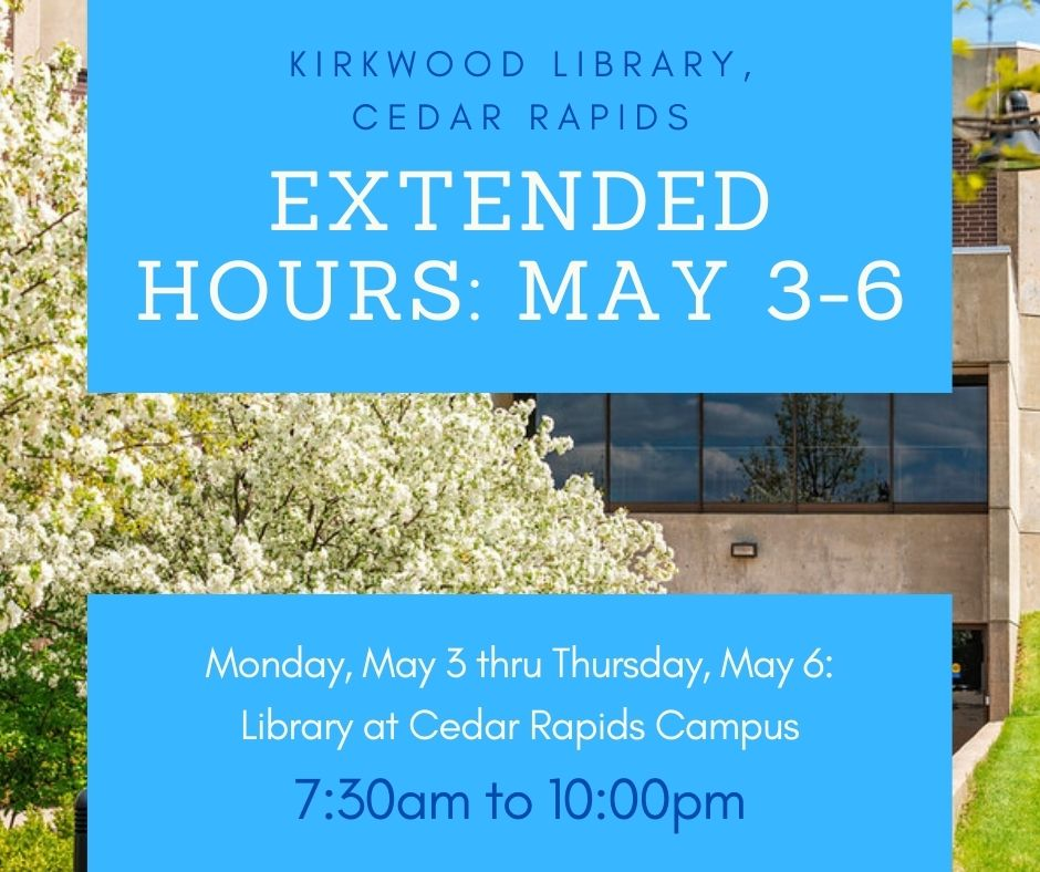 extended hours may 3 thru 6