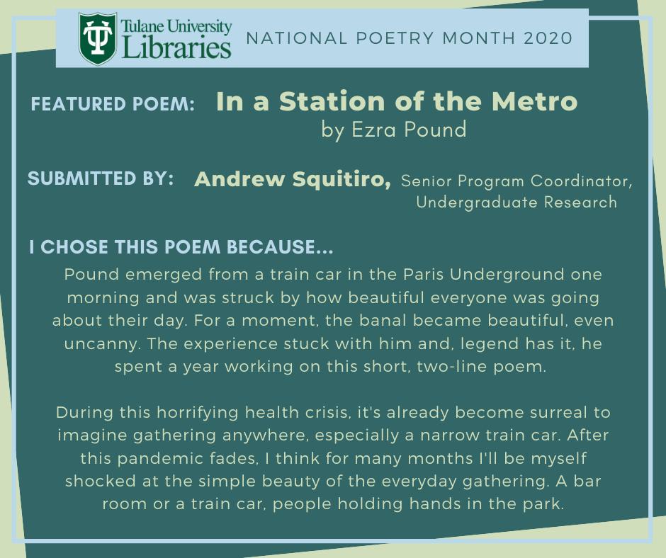 "Ezra Pound's ""In a Station of the Metro"""