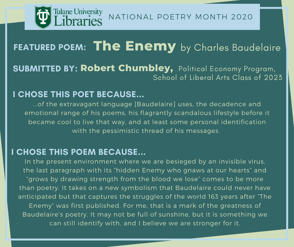"Charles Baudelaire's ""The Enemy"""