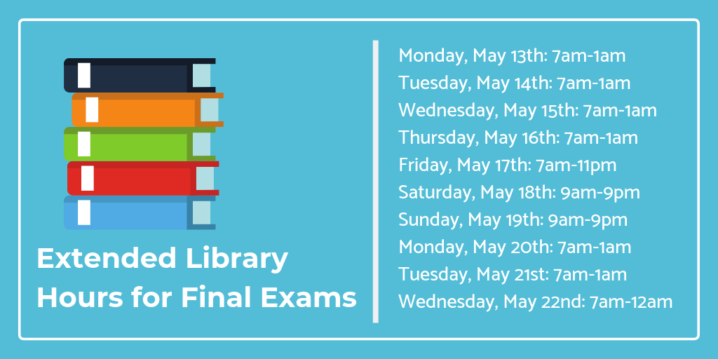 Final Exam Extended Hours Click for More Information