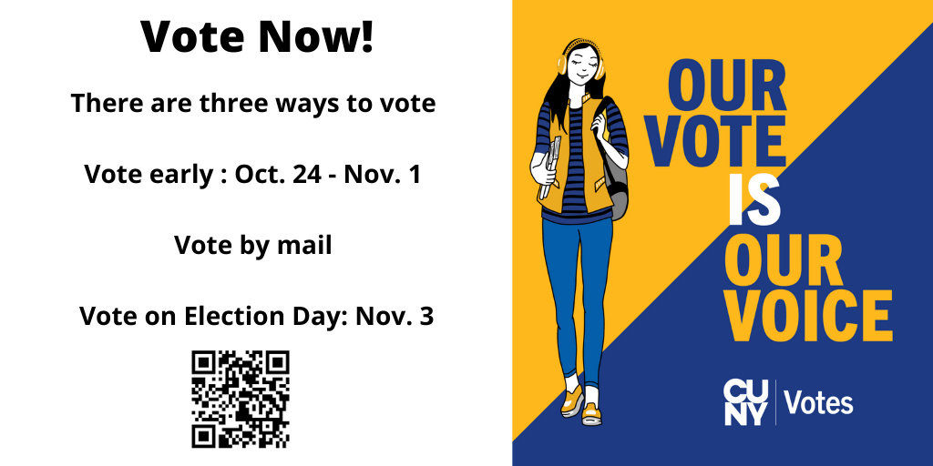 Register to vote now! Deadline to register is October 9th, the mail-in voting deadline is October 15, and the general election is November 3.