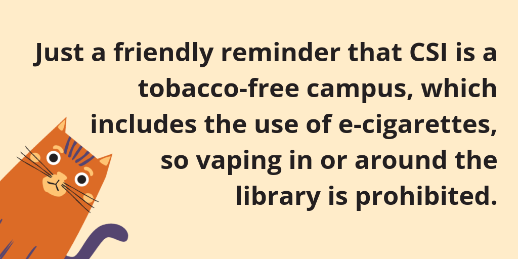 No vaping in the Library