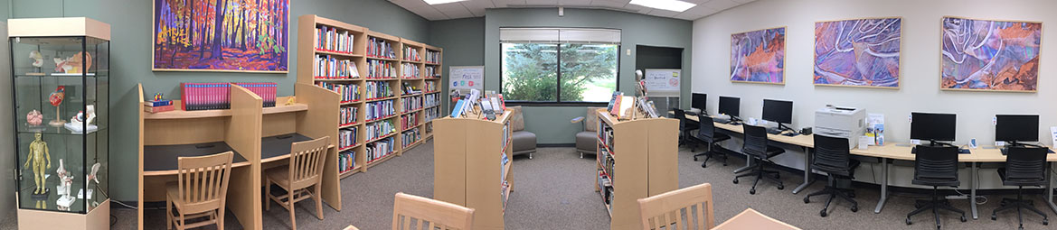panoramic image of portage library