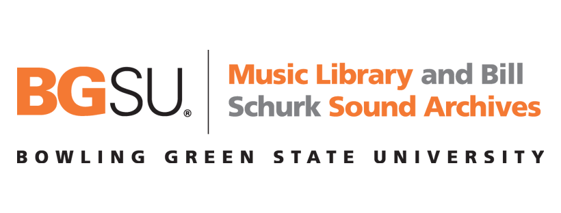 BGSU Music Library and Bill Schurk Sound Archives logo