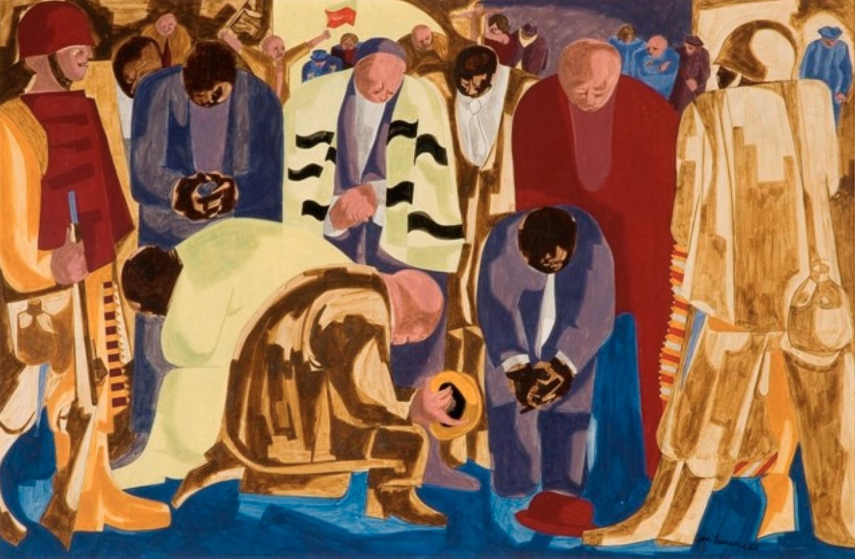 "Jacob Lawrence, ""Praying Ministers"" (1962)"