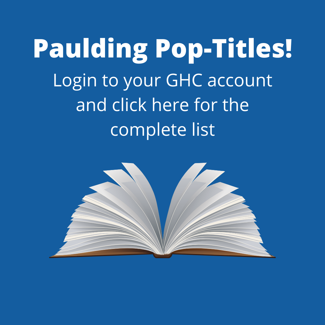 Click here to visit Primo and look at Paulding's full list of pop-titles!
