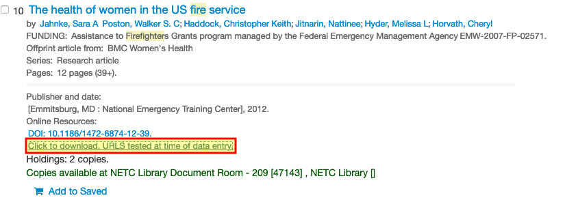 NETC entry with full-text download link highlighted.