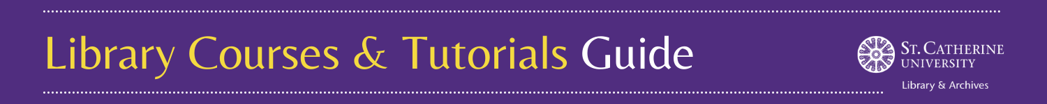 Library Courses & Tutorials Guide