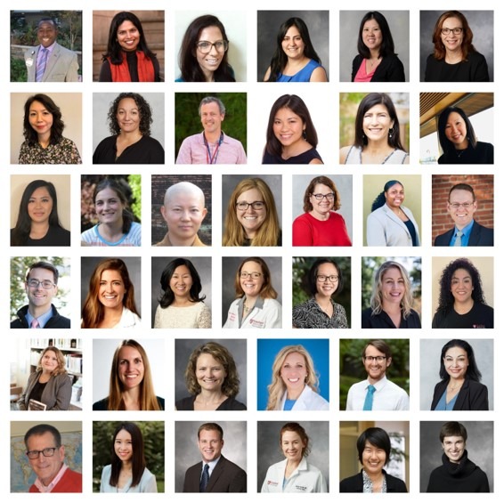 Portraits of the members of the Stanford Palliative Care team
