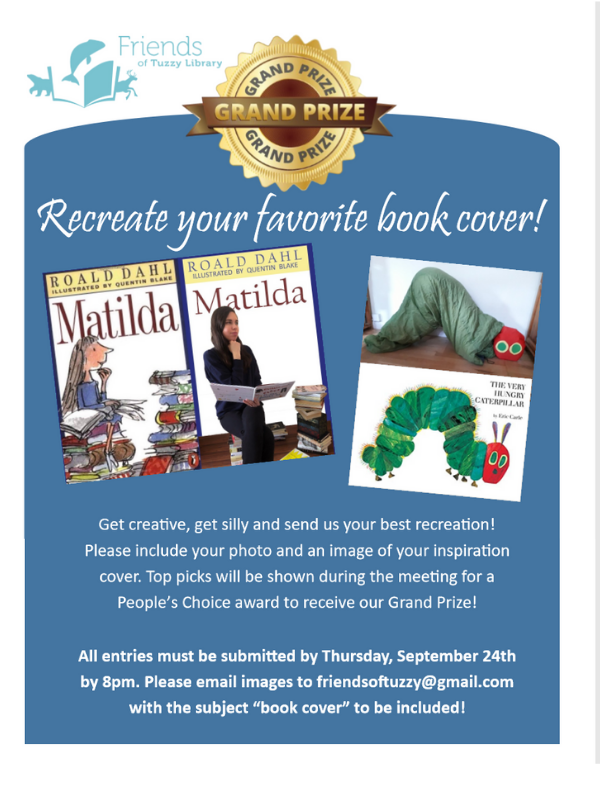 Book Cover Contest. Recreate your favorite book cover and email to friendsoftuzzy@gmail.com by September 24th