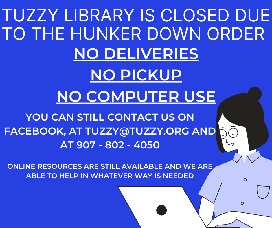 Tuzzy is closed due to COVID concerns. Please email tuzzy@tuzzy.org for more info.