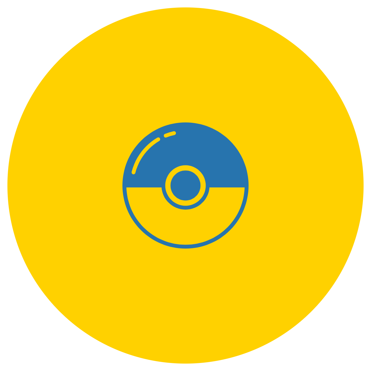 Image of a Pokeball from the manga called Pokemon.