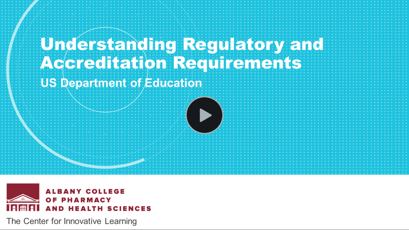 Link to video describing new US DOEd Regulations for Distance Education. After selecting the link, please press the play button.