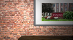 brick wall with framed photo of ACPHS