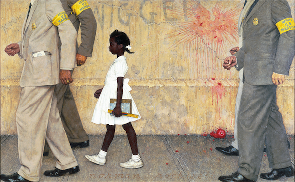 """""""The Problem We All Live With"""" by Norman Rockwell."""