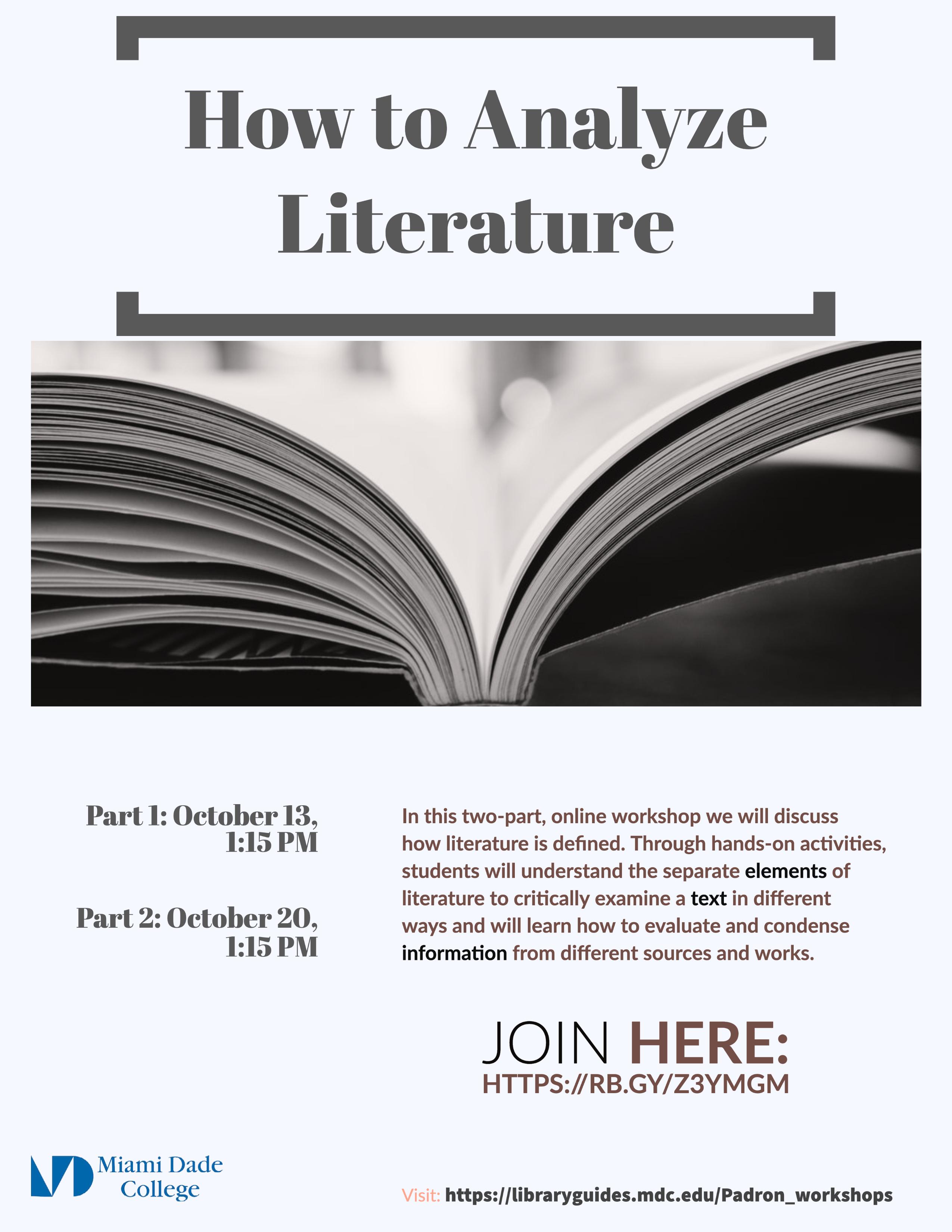 Analyzing Literature Flyer