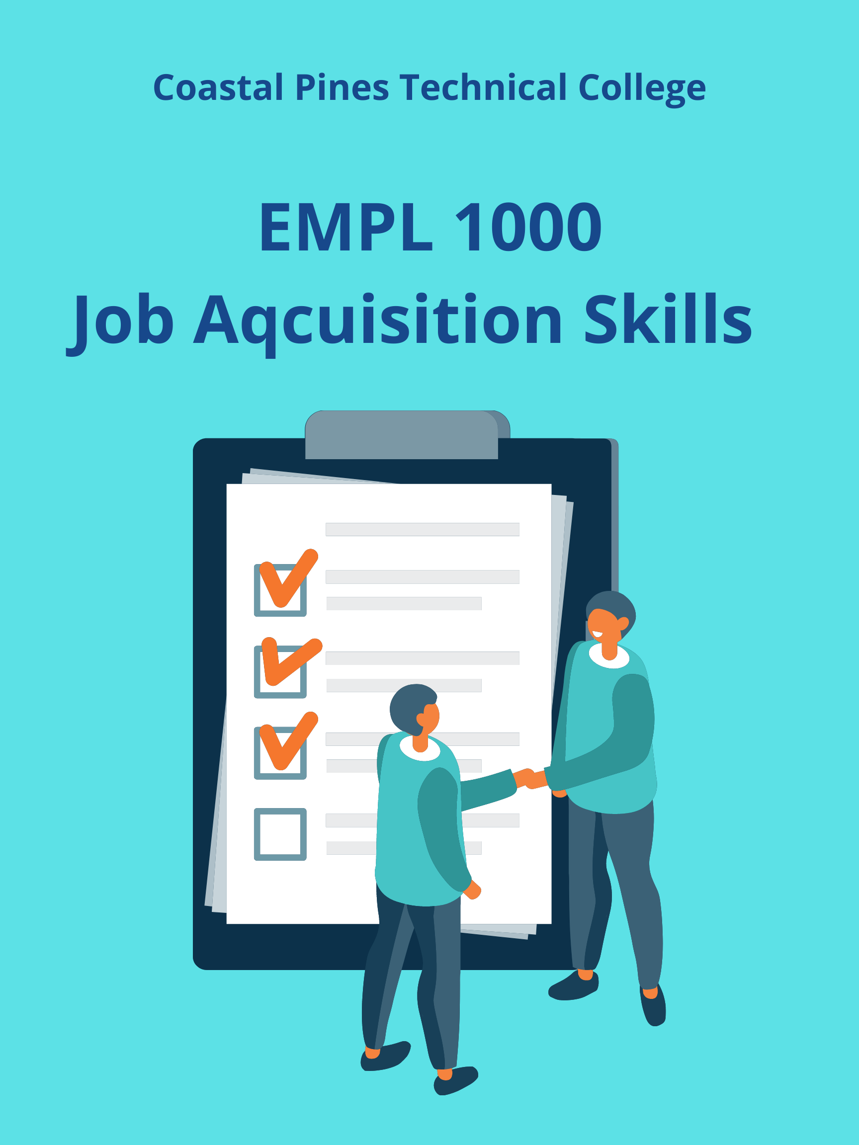 Coastal Pines Technical College EMPL 1000 Job Acquisition Skills