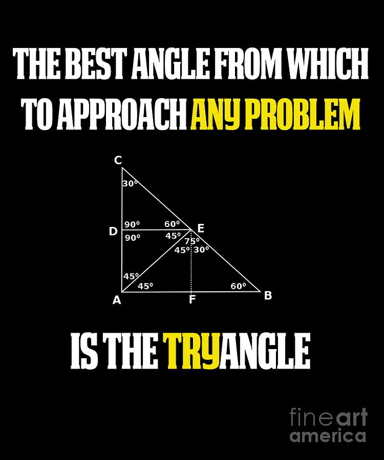 The Best Angle From Which To Approach Any Problem Is The TRY Angle