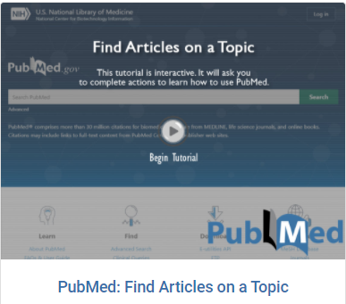 Link to tutorial Find Articles On a Topic