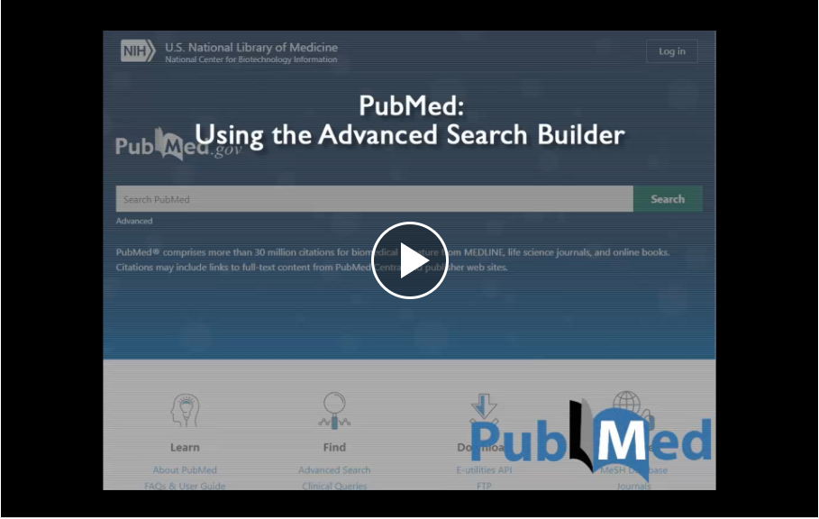 Using the PubMed Advanced Search Builder tutorial link