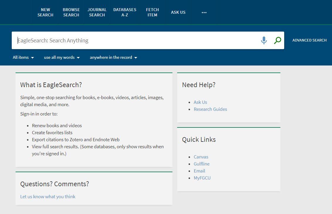 EagleSearch Screenshot