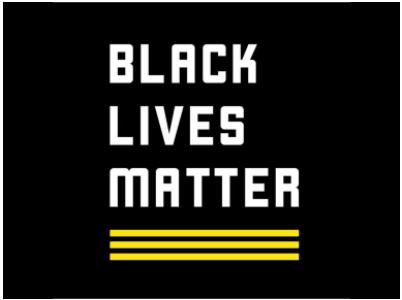 Black Lives Matter Logo and Link, Black Background
