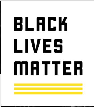 Black Lives Matter Logo, White Background