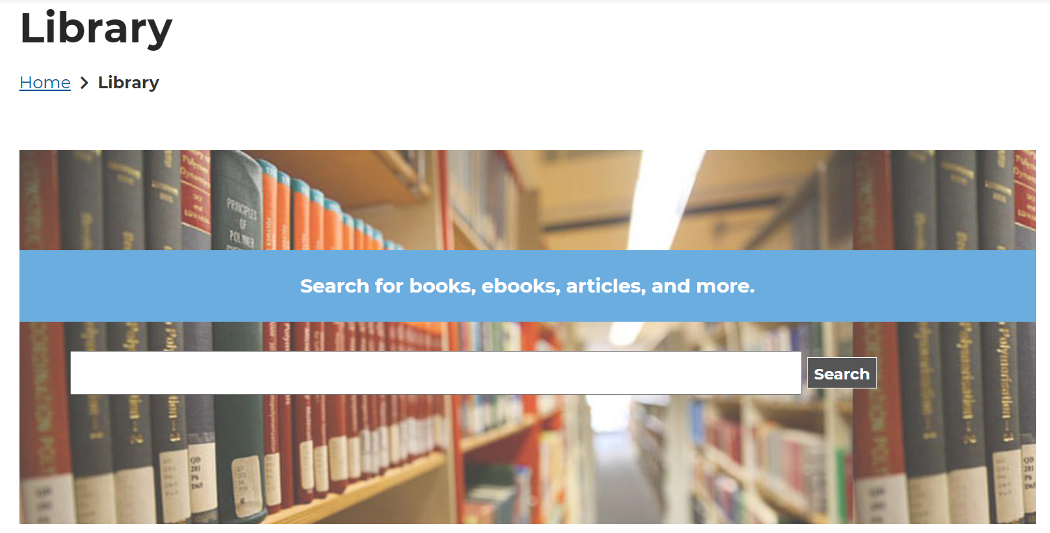 Library Home Page: Search for Books, Ebooks, and More
