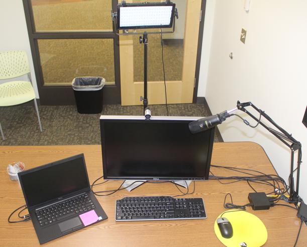 Desktop view of the digital media studio