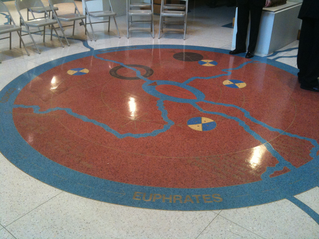Langston Hughes interment cosmogram  at Schomburg Center for Research in Black Culture