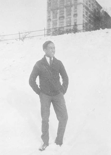 photo of Langston Hughes in high school 1919-1920