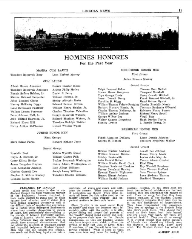 Lincoln News - Homines Honores - Monday, October 1, 1928 Page 13