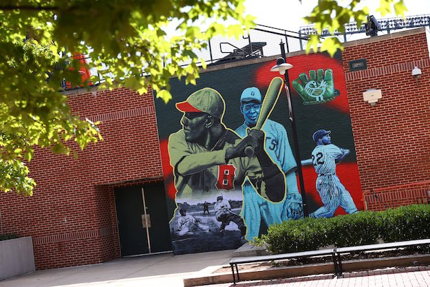 Negro Leagues Mural at Oriole Park at Camden Yards Baltimore, MD