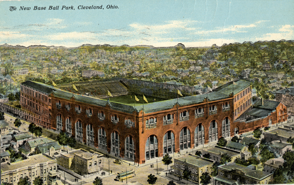 Postcard of League Park in Cleveland, Ohio