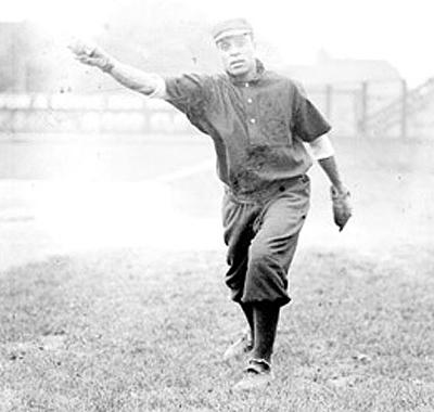 Photo of Walter Ball pitching
