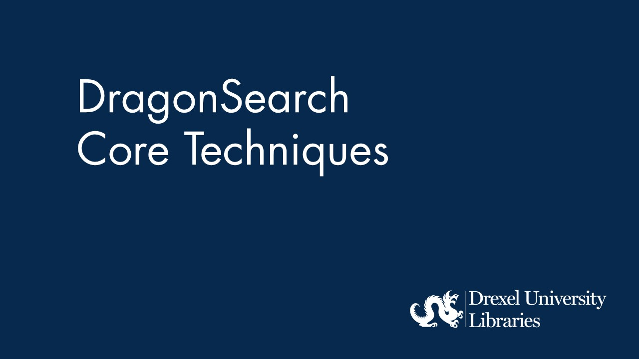 Blue background with text: DragonSearch Core Techniques