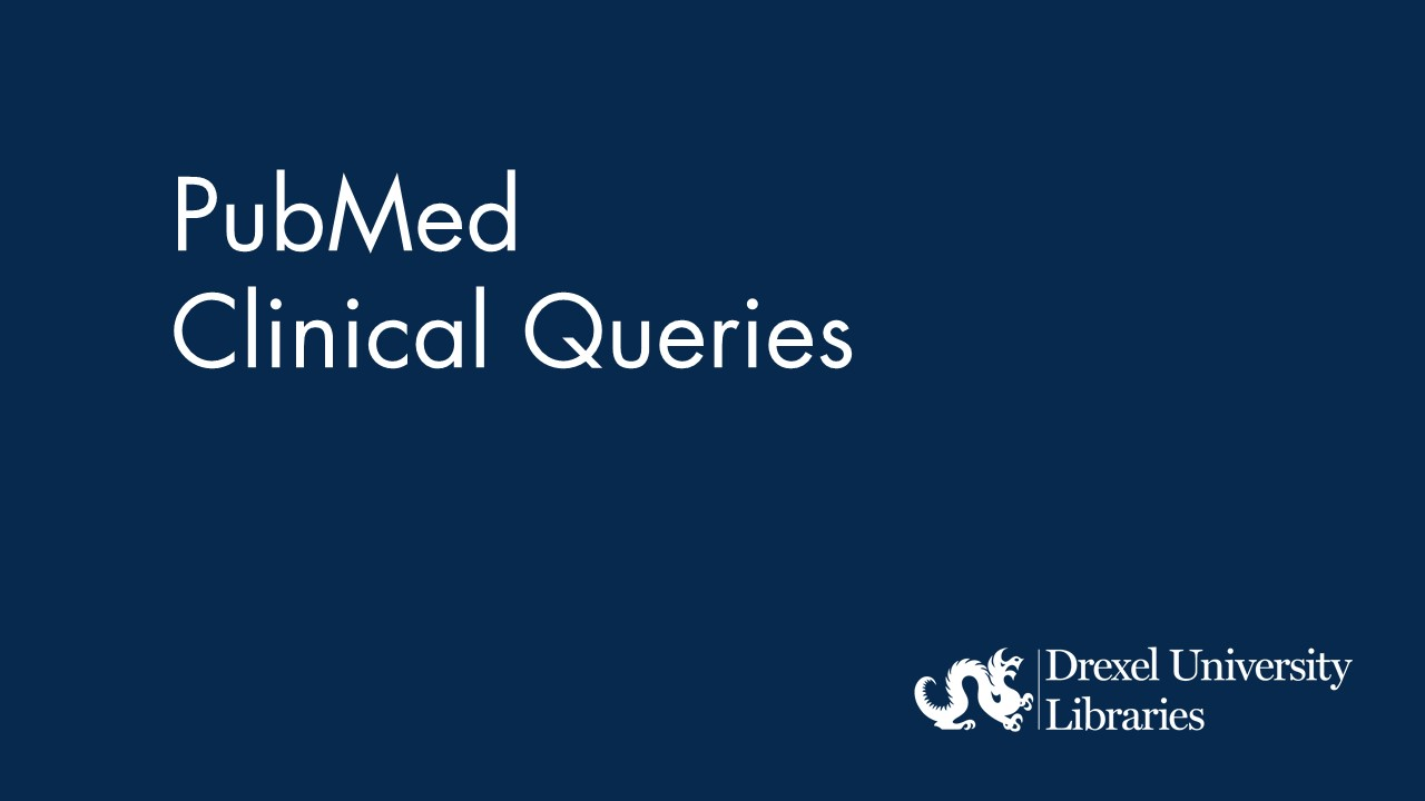 blue background with text: Pubmed clinical queries