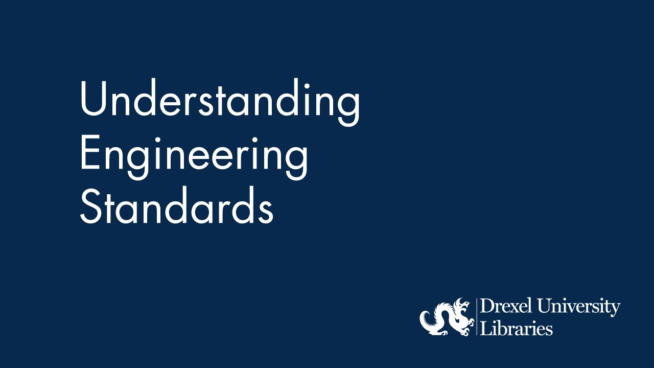 Blue background with text: understanding engineering standards