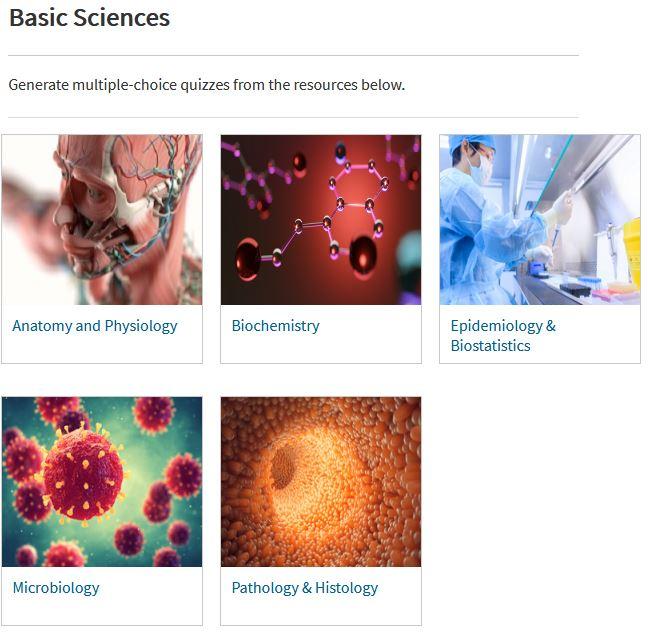 AccessMedicine Basic Sciences Study Tools