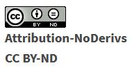 Creative Commons Attribution No Derivatives