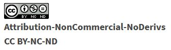 Creative Commons Attribution NonCommerical No Derivatives