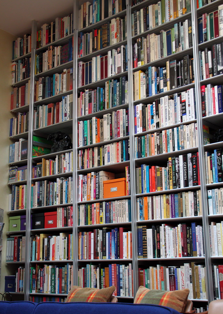 Organized books, Wall of Books by Mr.TinDC