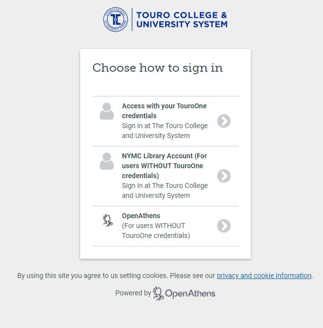 Touro University Nevada Sign In Page