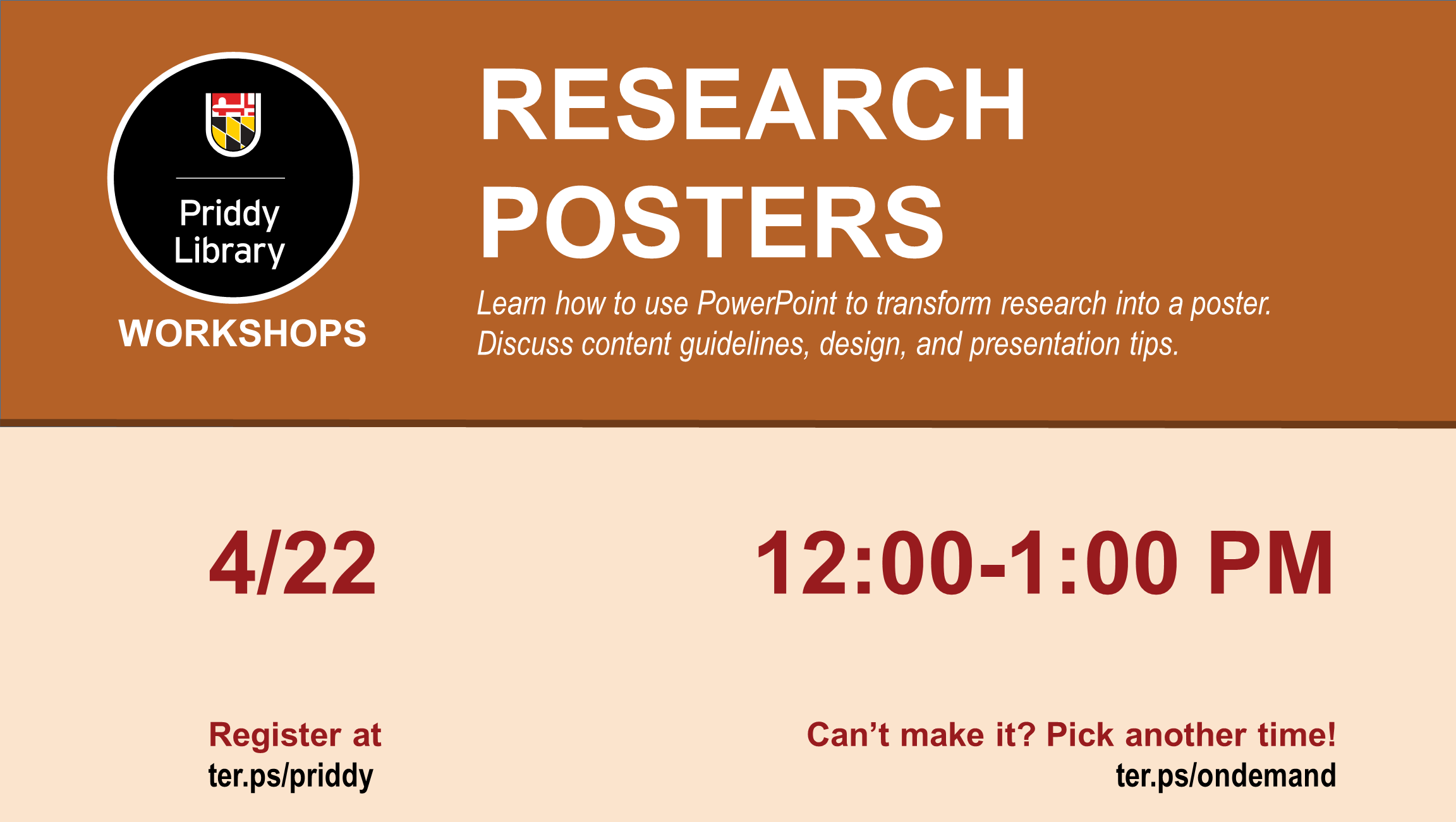 Research Posters flyer