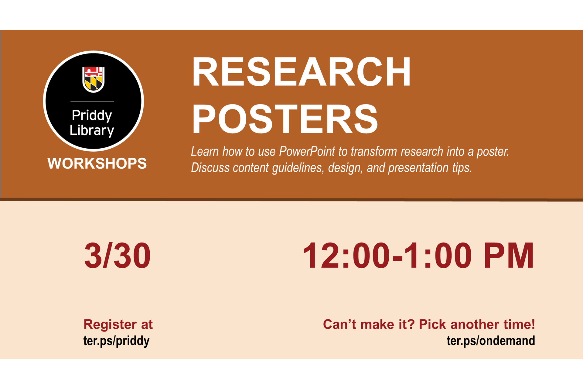 Research posters workshop flyer