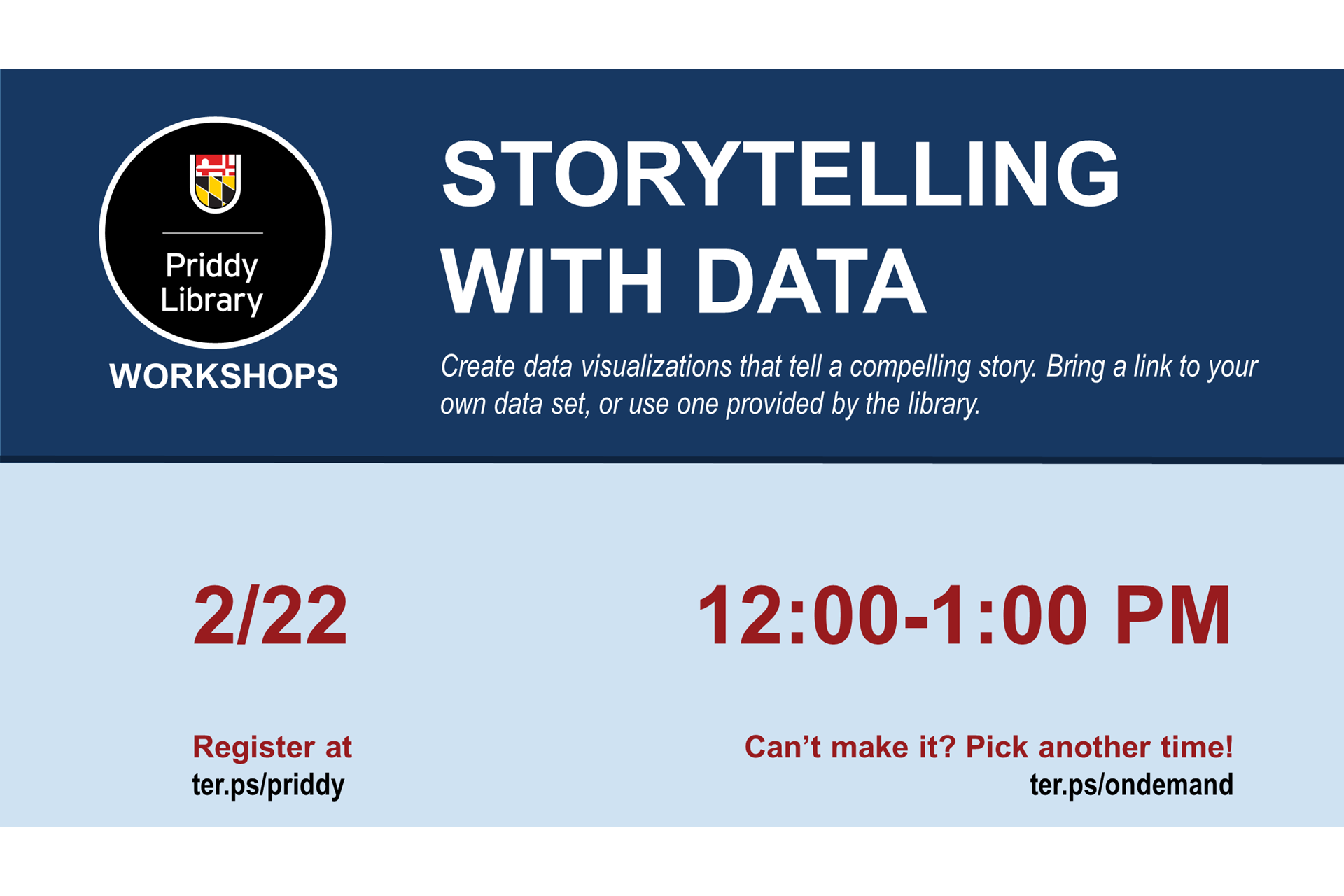 storytelling with data workshop flyer