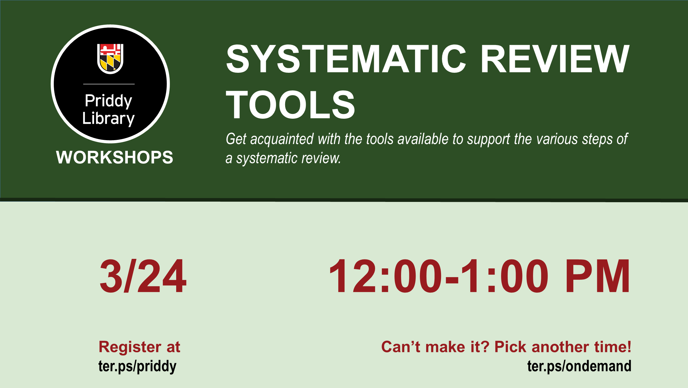 Systematic Review Tools flyer
