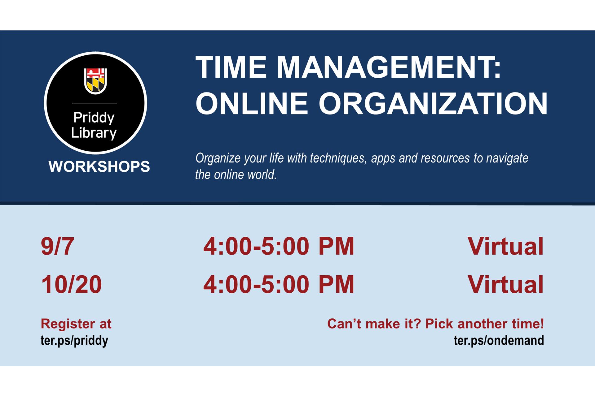Time Management: Online Organization