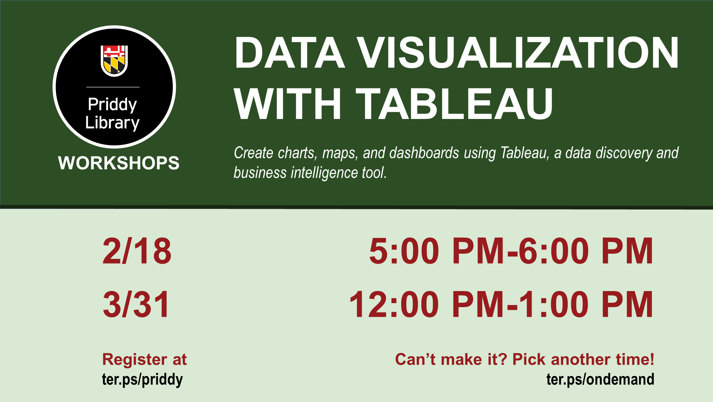 Data Visualization with Tableau Flyer