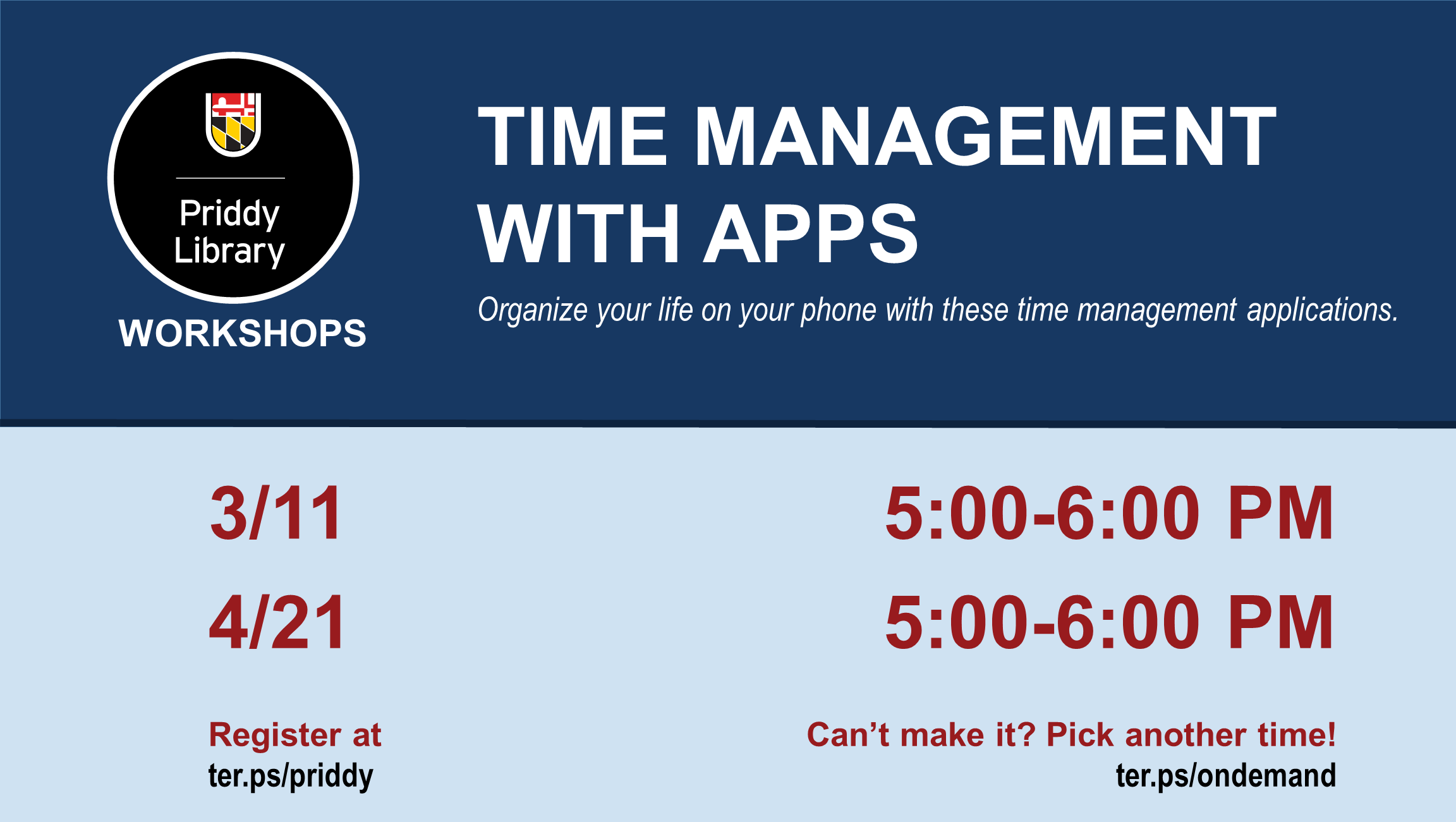 Time Management with Apps flyer